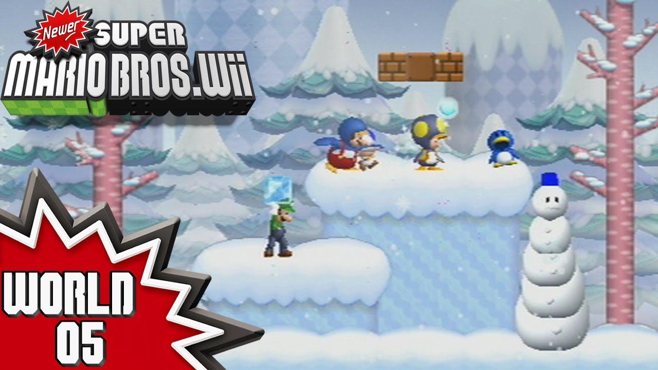 Newer Super Mario Bros  Wii - World 5 (1/2)