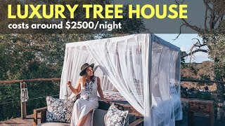 YOU WON'T BELIEVE THIS - EXCLUSIVE LUXURY TREEHOUSE IN KRUGER NATIONAL PARK