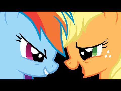 AppleJack and Rainbow Dash Kiss