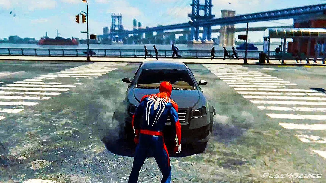Spiderman PS4 - Free Roam, Missions & Boss Fight Gameplay (E3 2018)
