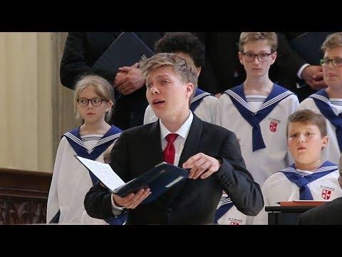 SCHUBERT Ave Maria - Alois MÜHLBACHER, countertenor (Hymne an die Jungfrau, lyrics)