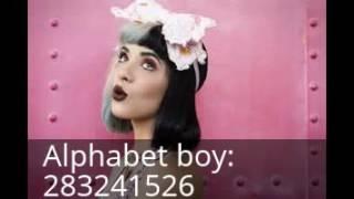 Roblox Melanie Martinez códigos de canciones [ parte 1 ]