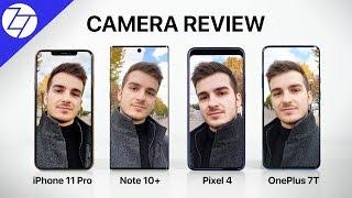 Pixel 4 XL vs iPhone 11 Pro Max vs Note 10+ vs OnePlus 7T Pro - The ULTIMATE Camera Comparison!