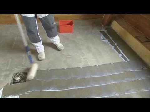 How to prepare your floor for stepper self adhesive vinyl for Preparing floor for vinyl
