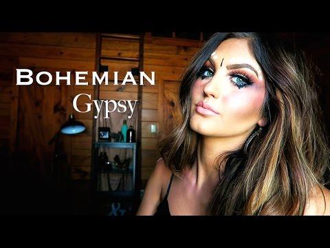Halloween Makeup Tutorial/Boho Gypsy   Paige Danielle - YouTube