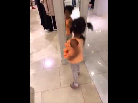 Roma 2 yrs dancing at the mall lol