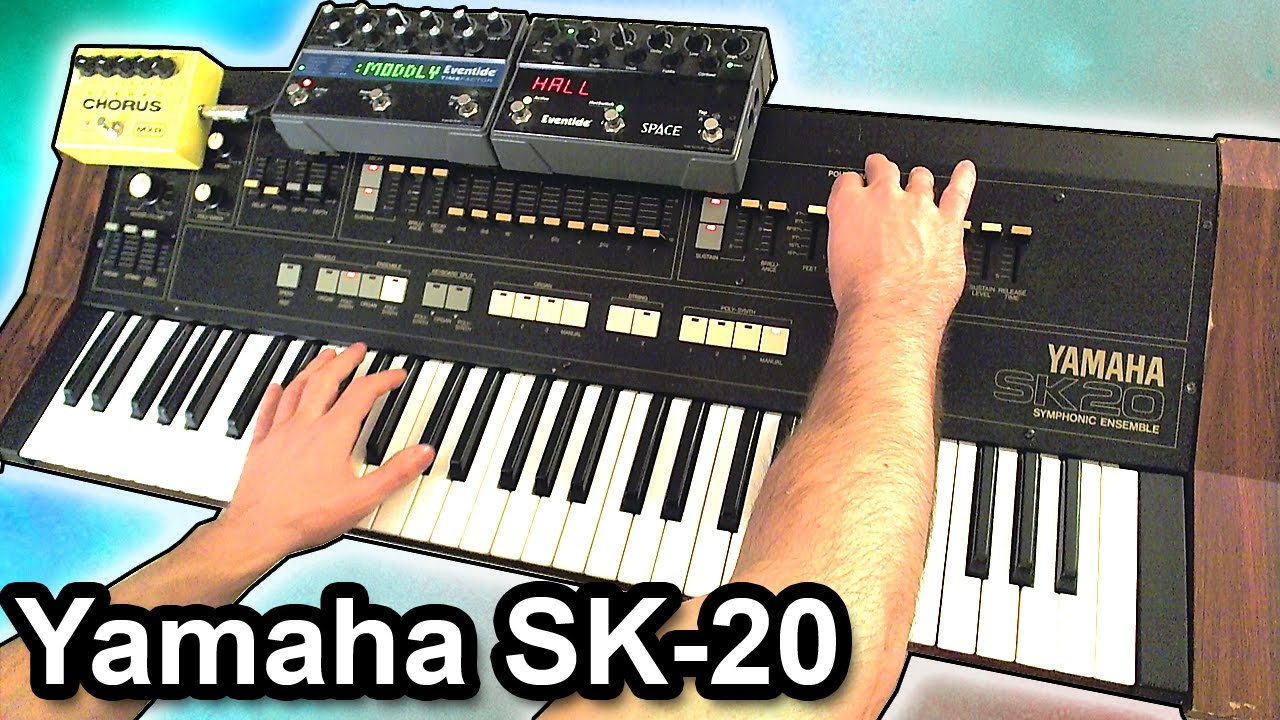 YAMAHA SK-20 - Ambient chillout piano music【SYNTH DEMO】