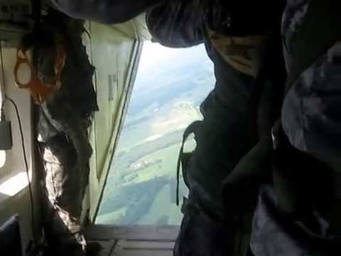Special Forces Jump  5th SFG on July 17, 2009 - C-23 - Golden Eagle LZ