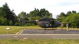 UH-72 Lakota - Takeoff at Bayreuth hospital