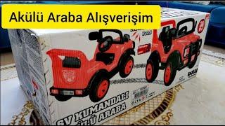 600 TL Akülü araba Alış veriş A101  / Oyuncak alışverişi / Uzaktan kumandalı akülü araba /