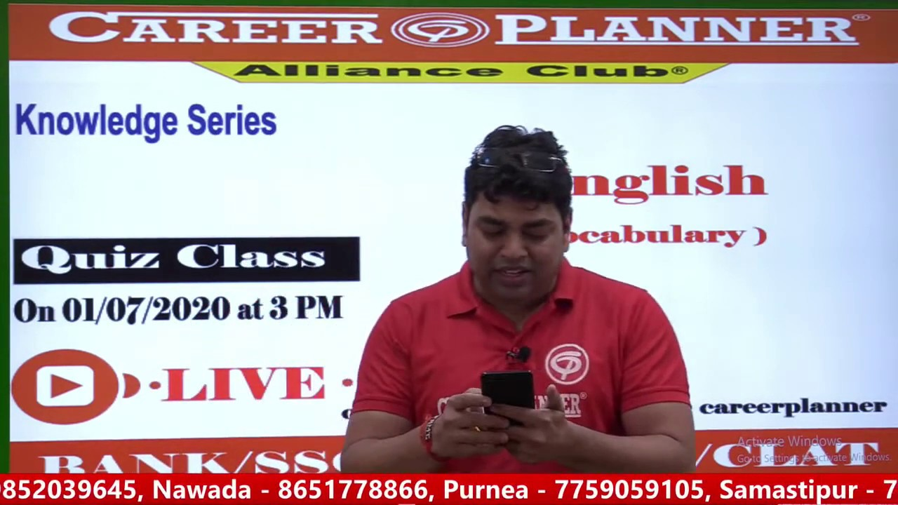 Knowledge Series -English Vocabulary @Career Planner