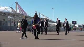Крестовский остров во время и после матча Швеция-Швейцария стадион Санкт-Петербург