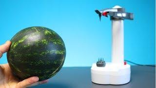 Kann ein Elektroschäler eine Wassermelone schälen? Experiment
