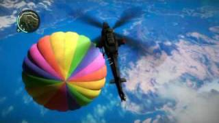 Just Cause 2 4619 METER BASE JUMP !!!! NOT FAKE !!!!