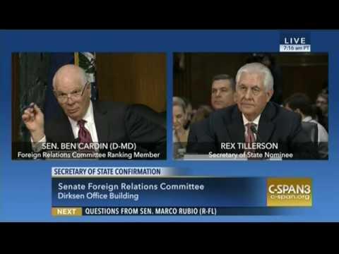 Senator Cardin Discusses Russian Aggression in Crimea with Tillerson