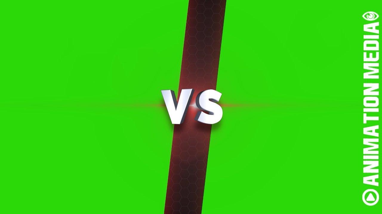 Gamer Vs Split Screen Challenge Template Green Screen Chroma