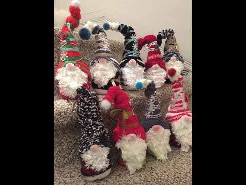 Dollar Store Christmas Gnomes Made With Socks