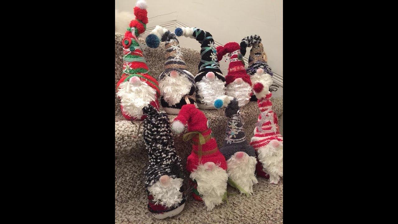 808b916bcb5 Christmas Gnomes made easy with dollar tree socks - YouTube