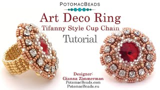 Make an 1920's Art Deco Cup Chain Ring- Jewelry Making Tutorial by PotomacBeads