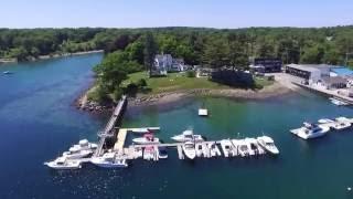 Phantom 3 cruising a marina in Wells, Maine
