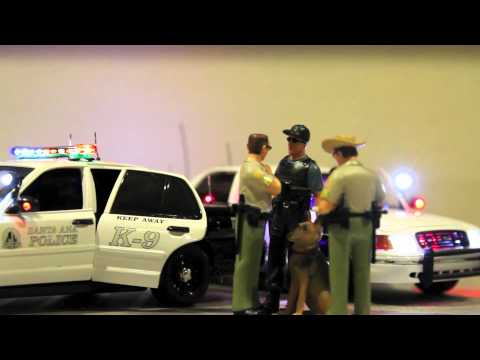 1/18 police car