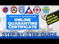 How To Get BOQ Quarantine Certificate Online - For OFWs & Arriving Filipinos - Step By Step Video Guide
