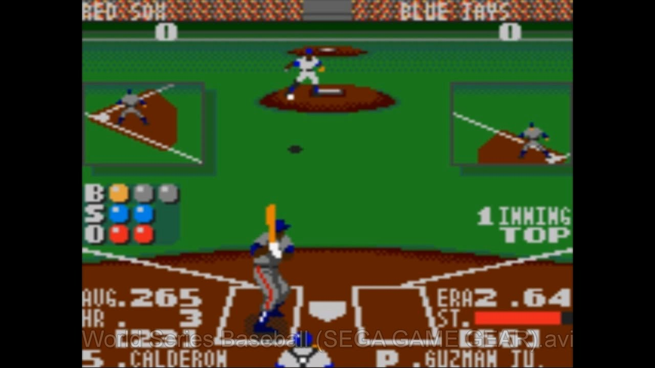 World Series Baseball Sega Game Gear Youtube