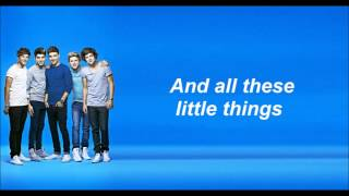One Direction - Little things (Lyrics and Pictures)