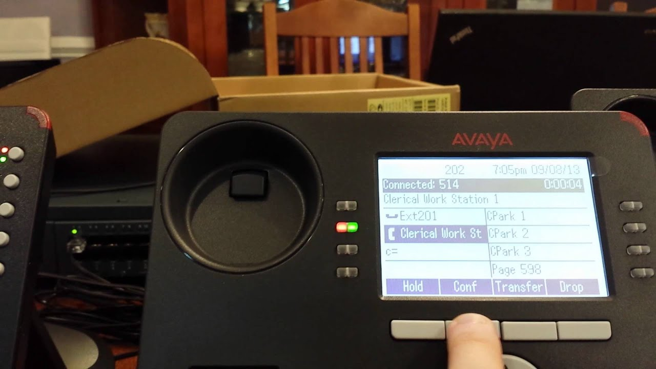 Avaya IP office Conference call on 9500 phone