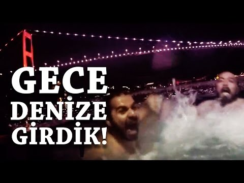 İstanbul Boğazı'nda Denize Girme Kapışması - Su Buzzz Gibi