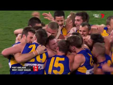 AFL Last two minutes - West Coast Eagles vs Port Adelaide -  First Elimination Final