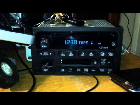 Unlocking 2001 to 2005 GM Class II RDS Stereo Systems