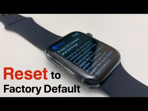 How to factory reset apple watch 4