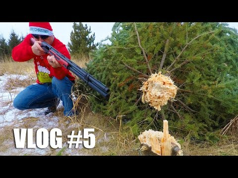 shotgun-vs-christmas-tree-🎄-how-many-shots-will-it-take?-|-gould-brothers-vlog