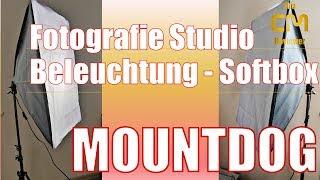 Mountdog Studio Beleuchtung Soft Box: Test - Lohnen die 30€? - 135...