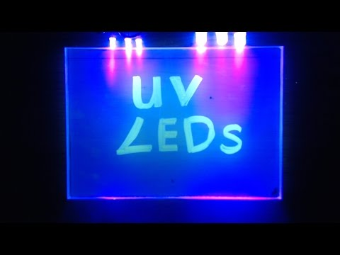 How To Wire UV Ultraviolet LEDs Experiment & Tutorial