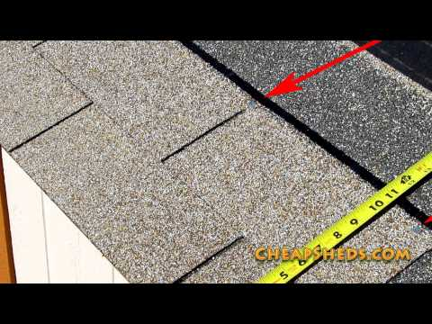 How To Shingle A Shed Roof Video Youtube