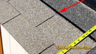 How To Shingle A Shed Roof Video