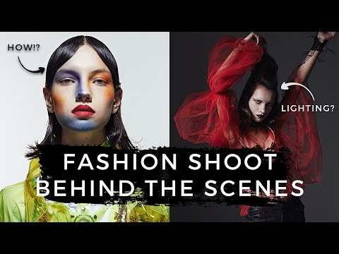 Fashion Photography Behind The Scenes | Edgy Fashion Shoot