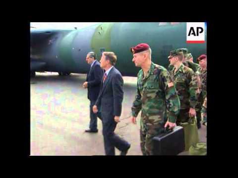 RWANDA: KIGALI: US MILITARY OBSERVERS ARRIVE ON FACT FINDING MISSION