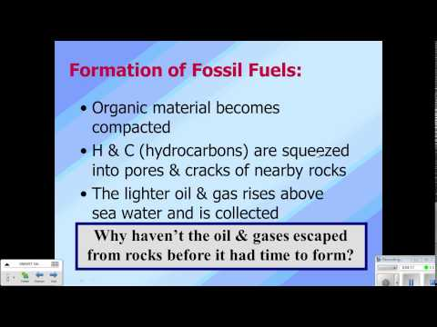 Non-Renewable and Alternative Engergy Video Notes