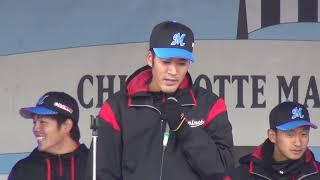 宮崎のトークに割り込んで歌いだす安江嘉純(スーパーマリンフェスタ2017 歌上手!のど自慢大会)