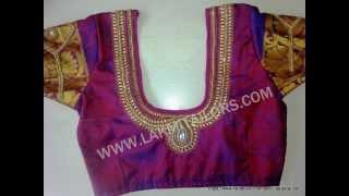 Bridal blouse works wedding blouse hand embroidery aari woks from lakmi tailors