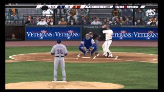 MLB 11: The Show Demo Gameplay featuring Giants vs Rangers (PS3)