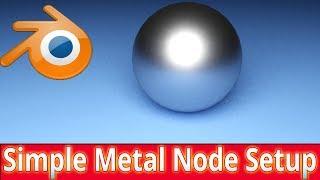 Blender Tutorial : Simple Node Setup for metal objects