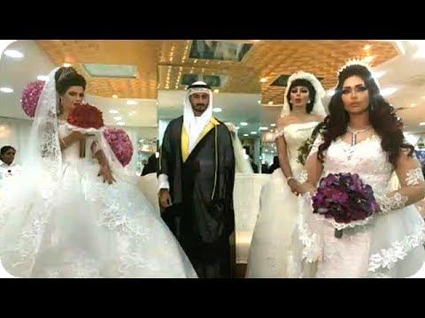bde8bce57 حفل زفاف دكتورة خلود وامين للمرة الرابعة مع 3 عروسات معاً - YouTube