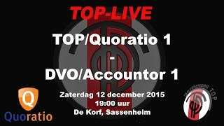 TOP/Quoratio 1 tegen DVO/Accountor 1, zaterdag 12 december 2015