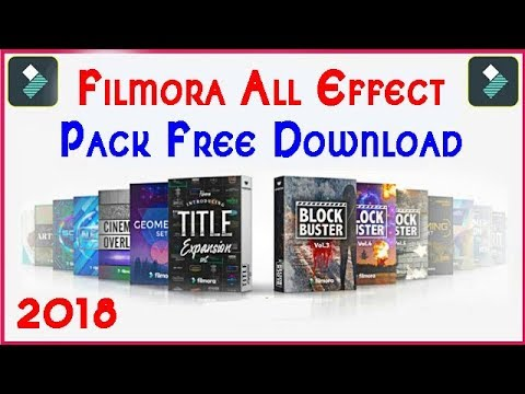 filmora wondershare effects pack