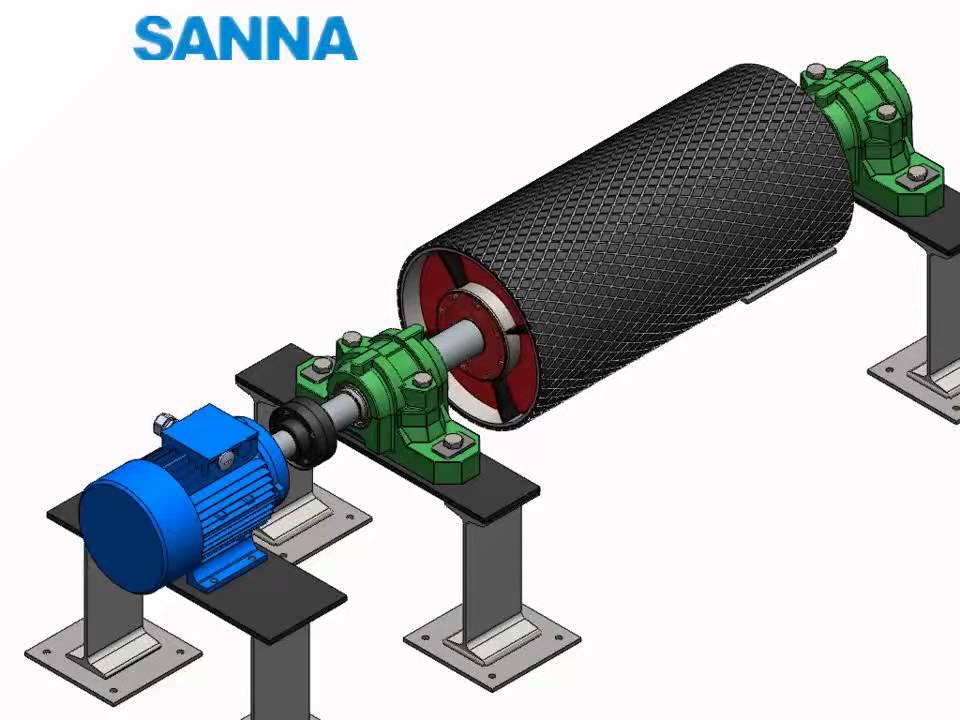 Conveyor Pulley Working Schematic Diagram Sanna