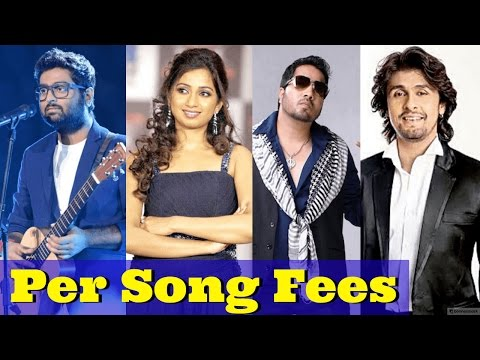 Per Song Fees of Top 16 Bollywood Playback Singers - Highest Paid Bollywood Singers